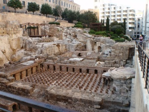 The Roman Baths in downtown Beirut